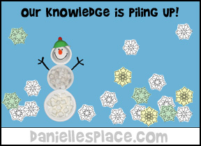 Our Knowledge is Piling UP! Snowflake Bulletin Board Display