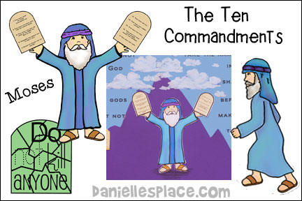 Ten commandments - Moses Bible Lesson