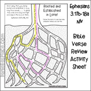 Roots Bible Verse Review Activity Sheet