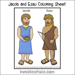 Jacob and Esau Coloring Sheet