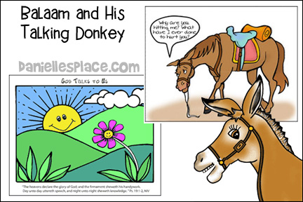 Balaam and His Talking Donkey Bible Lesson