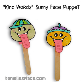 Kind Words Sunny Face Puppets