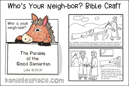 Who's your Neigh-bor Bible Craft