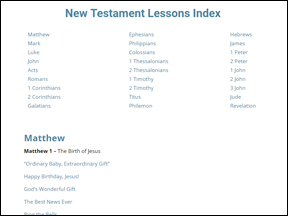 New Testament Reference Search