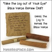 Log Bible Verse Craft