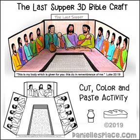 The Last Supper 3D Craft