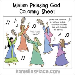 Miriam Dancing Coloring Sheet