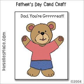 """Dad, You're Grrrreat!"" Father's Day Card Craft for Kids"