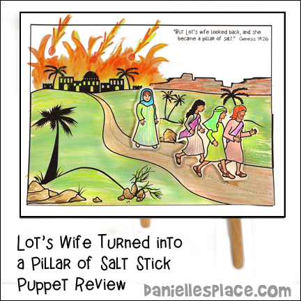 Lot's Family Stick Puppets