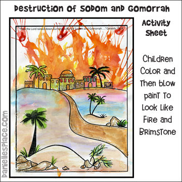 The Destruction of Sodom and Gomorrah Activity Sheet