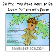 Acorn Picture and Poem