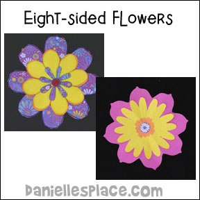 Eight-sided Paper Flower Craft