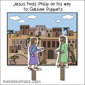 Jesus Finds Nathanael Bible Craft