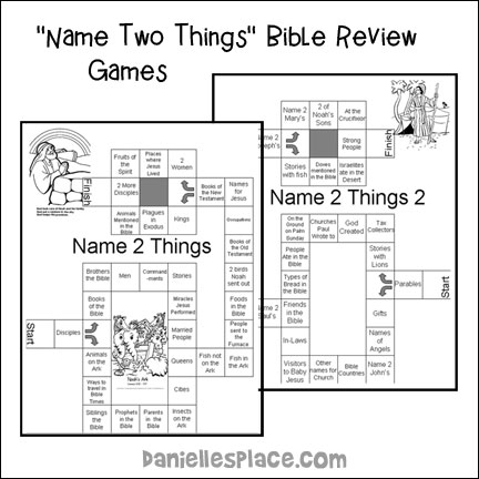 Name Two Things Bible Review Games