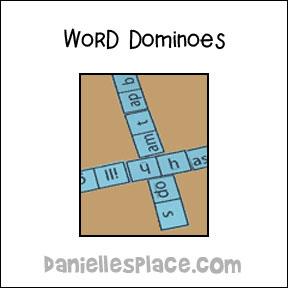 Spelling Words Dominoes