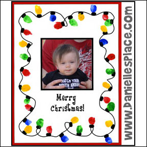 Merry Christmas Thumbprint Christmas Lights Craft