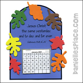 Fall Calendar Craft