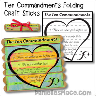 Ten Commandments Folding Craft Sticks