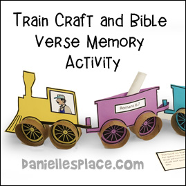 Train Craft and Bible Verse Review Game