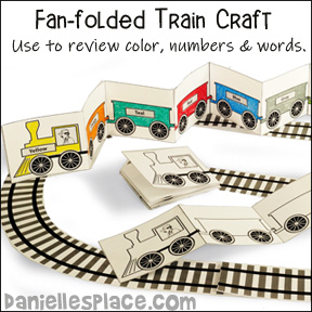 Fan-folded Train Book Craft