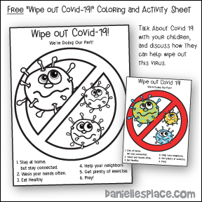 Wipe Out Covid-19 Coloring and Activity Sheet