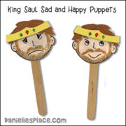 King Saul Sad and Happy Puppet