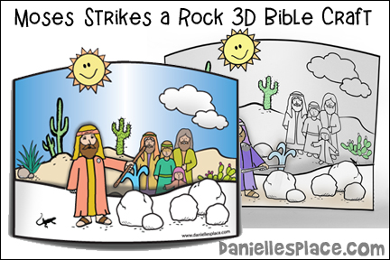 Moses Strikes a Rock Bible Craft