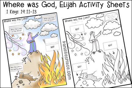 Elijah, 1 Kings 19:11-13 Activity Sheets