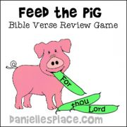 Feed the Pig Bible Verse Review Game
