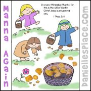 Manna Again! Activity Sheet