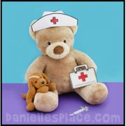 Nurse's Cap Bear Craft